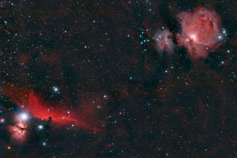 Horsehead and Orion Nebulae