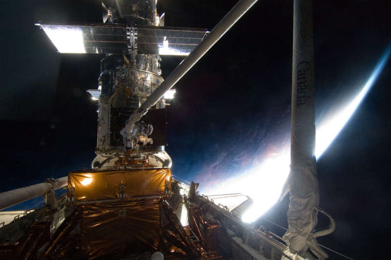 Above Earth Fixing Hubble
