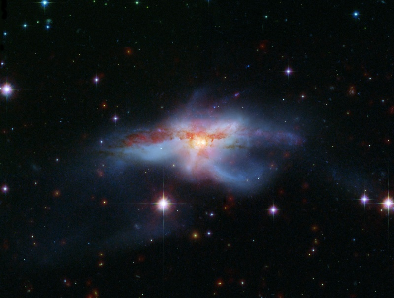 NGC 6240: Merging Galaxies