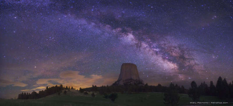 The Milky Way Over Devils Tower