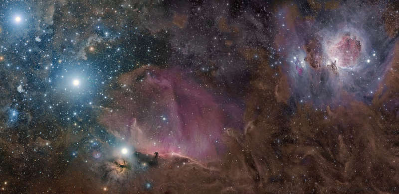 Orion in Gas, Dust, and Stars