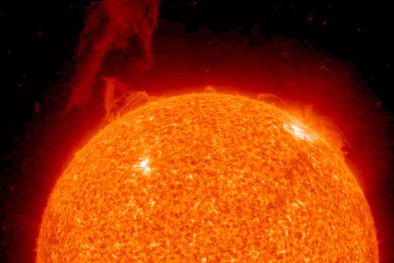 A Solar Prominence Erupts in STEREO