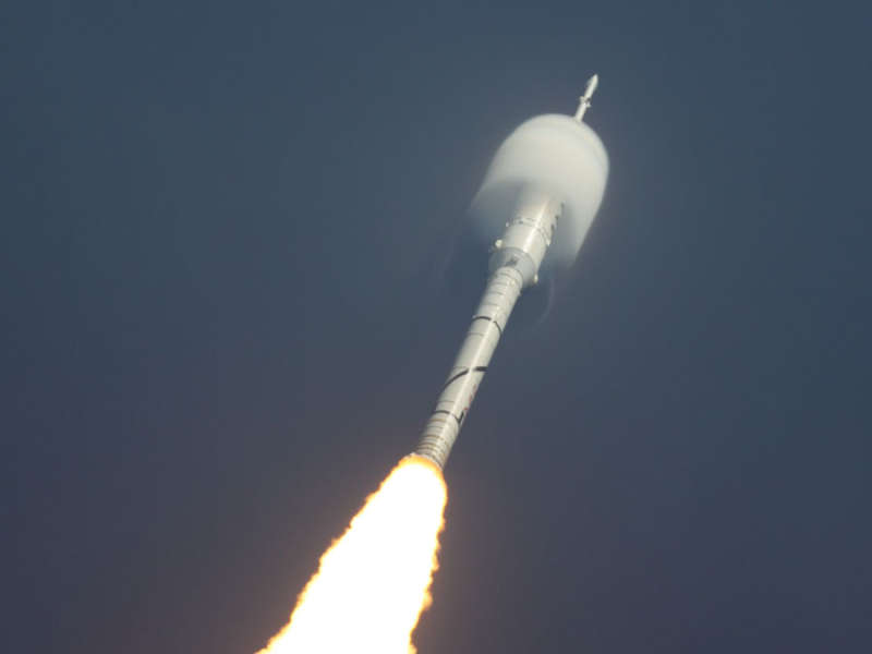 Ares 1 X Rocket Lifts Off
