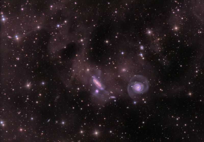 Dust and the NGC 7771 Group