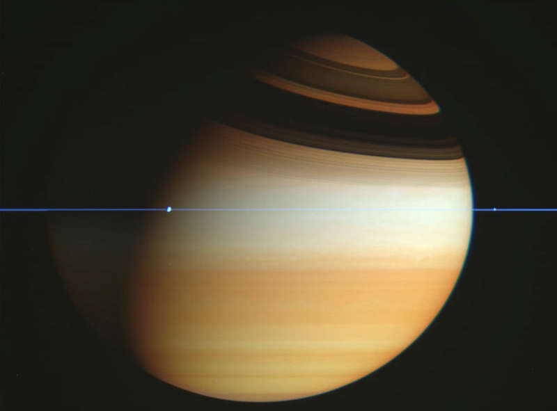 Cassini Spacecraft Crosses Saturn's Ring Plane