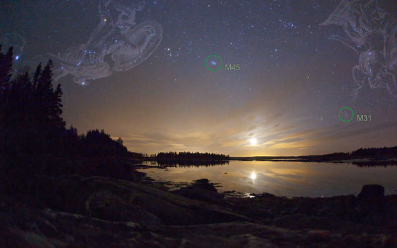 Moonset Over Pleasant Bay