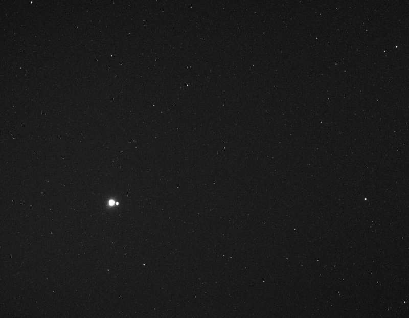 Earth and Moon from MESSENGER