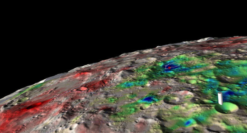 Water Ice Detected Beneath Moons Surface