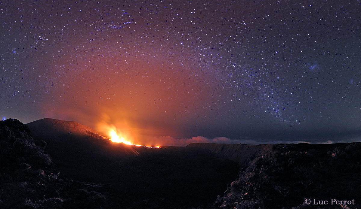 The Milky Way Over the Peak of the Furnace