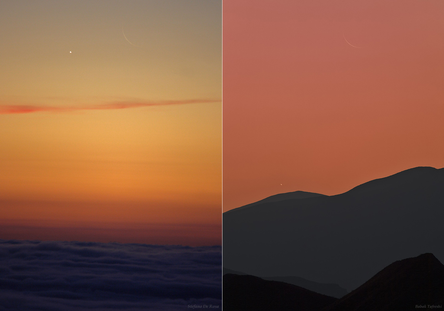Two Views, Two Crescents