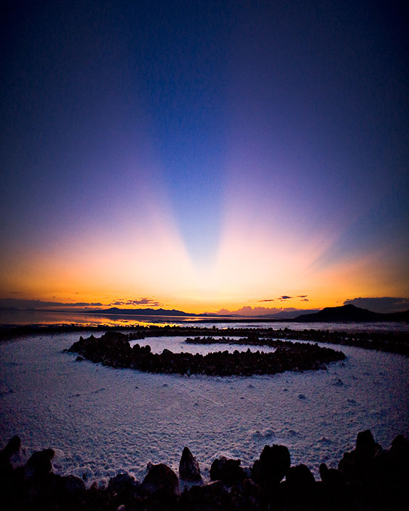 Sunset at the Spiral Jetty