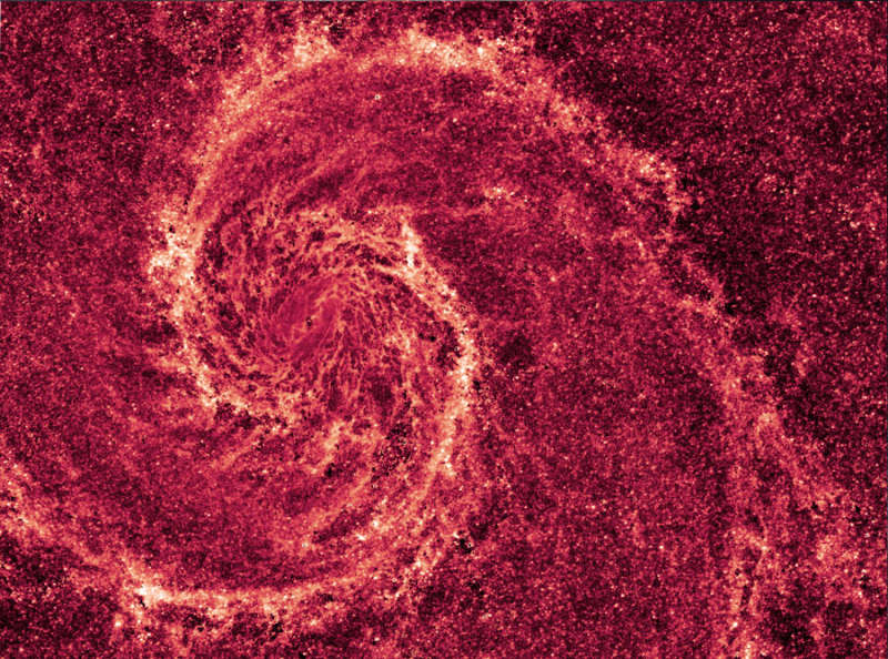 The Whirlpool Galaxy in Infrared Dust