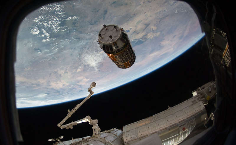 Japans Kounotori2 Supply Ship Approaches the Space Station