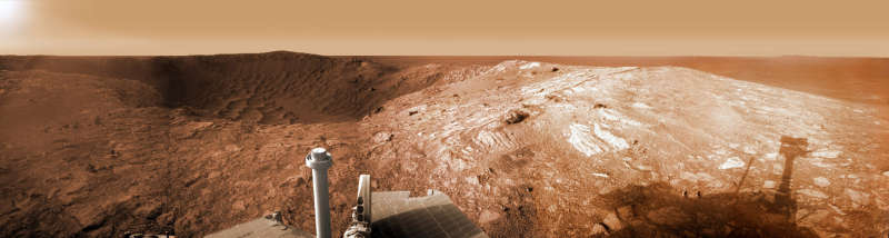 Opportunity at Santa Maria Crater