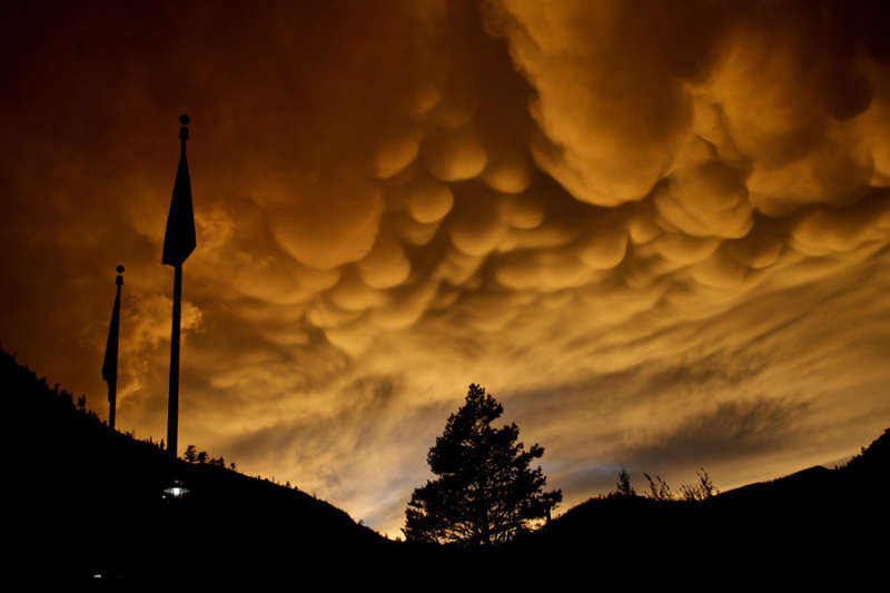 Mammatus Clouds Over Olympic Valley