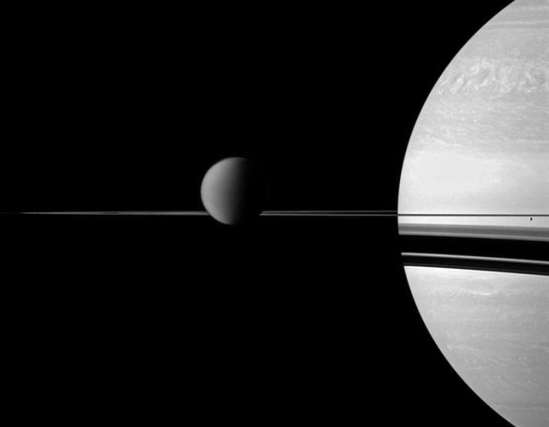 Titan, Rings, and Saturn from Cassini