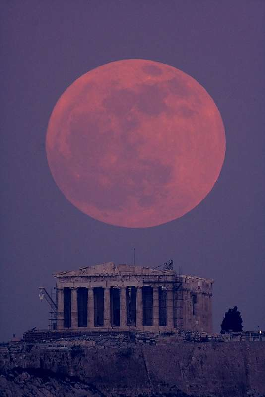 Parthenon Moon