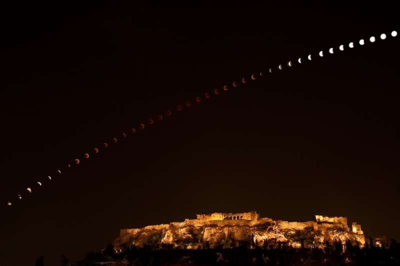 Eclipse over the Acropolis