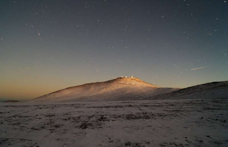 The Snows of Paranal