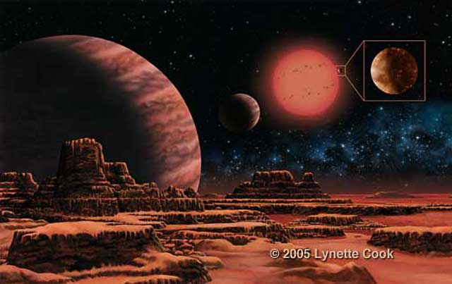 Gliese 876 System Includes Large Terrestrial Planet