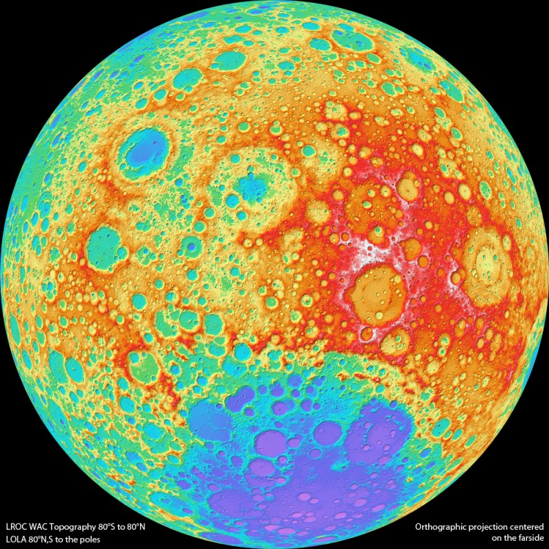 A Colorful Side of the Moon