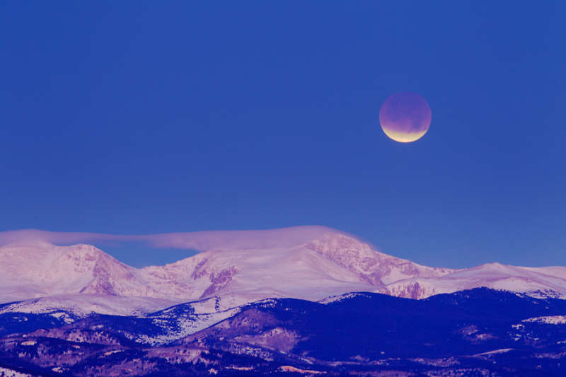 Eclipsed Moon in the Morning