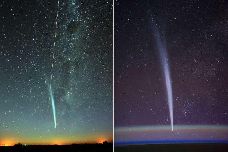 Comet Lovejoy and the ISS