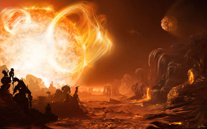 A Dangerous Sunrise on Gliese 876d