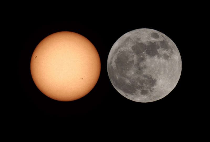Sun vs  Super Moon