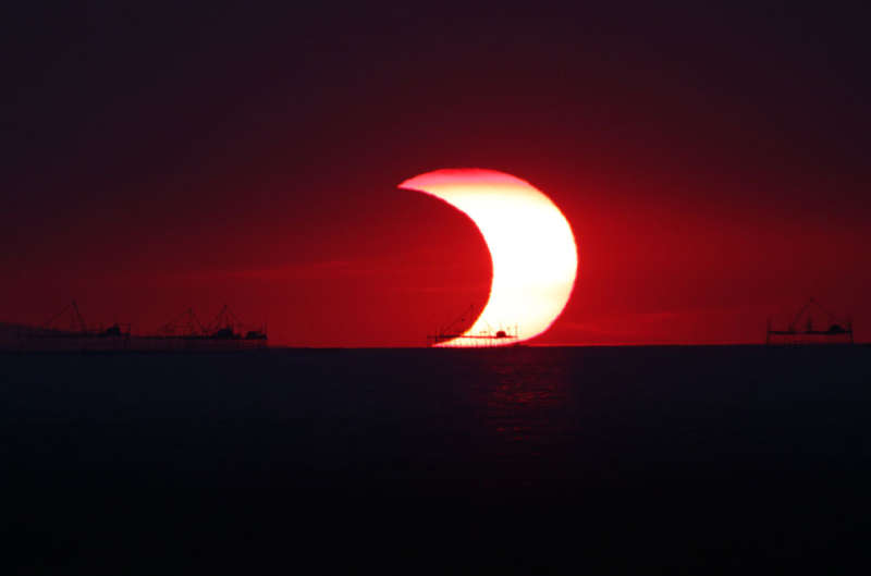 A Partial Eclipse Over Manila Bay