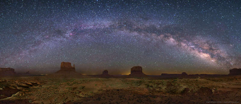 The Milky Way Over Monument Valley
