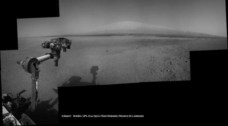 Curiosity on Mars: Mt Sharp in View
