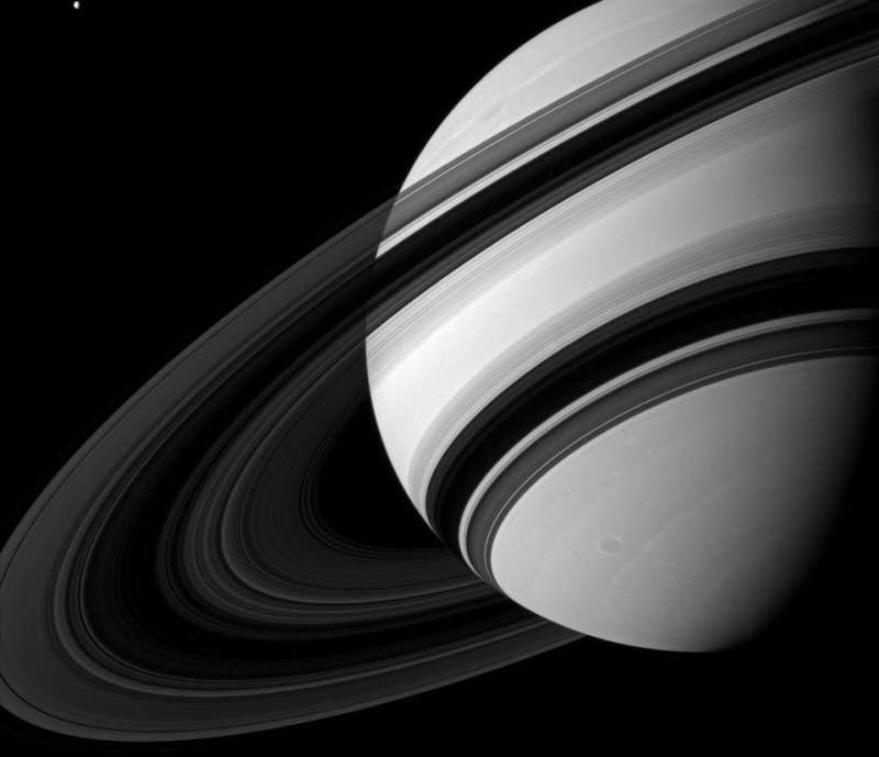 Saturns Rings from the Dark Side