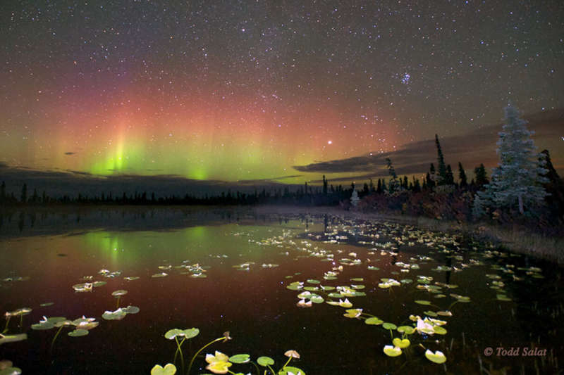 Reflected Aurora Over Alaska