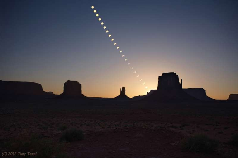 Ring of Fire over Monument Valley