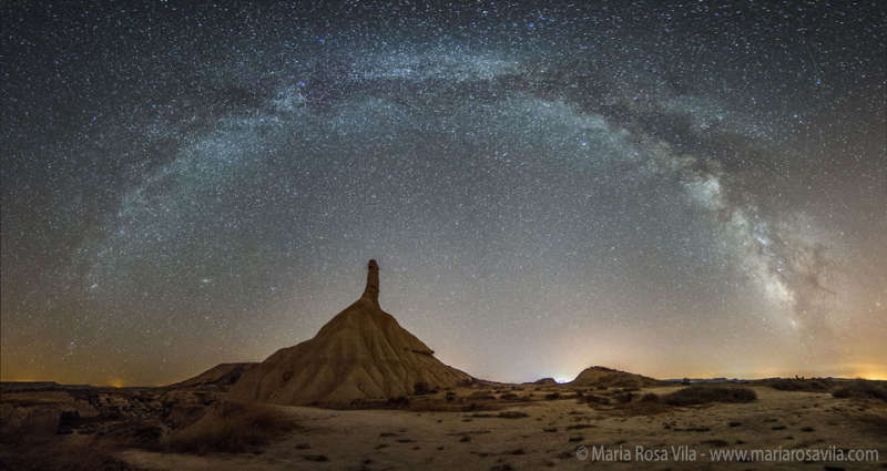Milky Way Over Spains Bardenas Reales