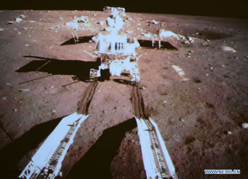 Yutu Rover Rolls onto the Moon