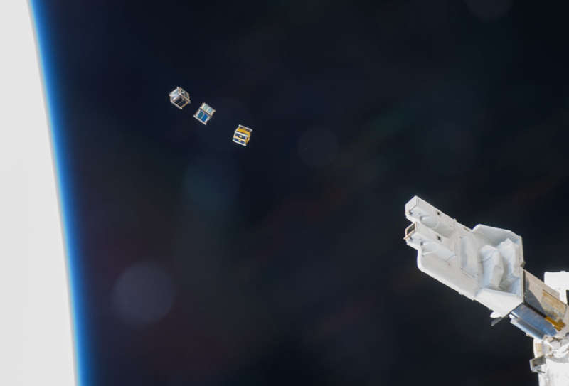 Three CubeSats Released