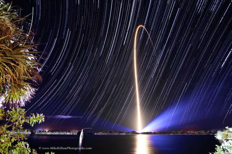 Rocket Streak and Star Trails