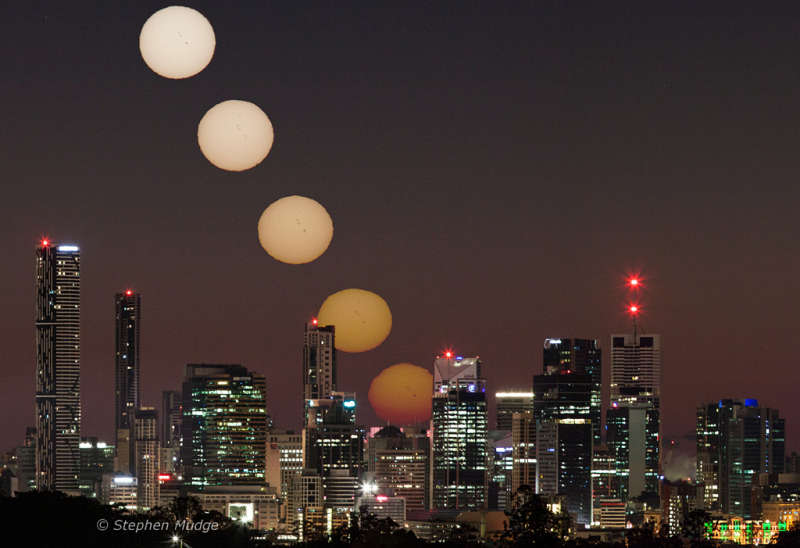 Spotty Sunrise over Brisbane