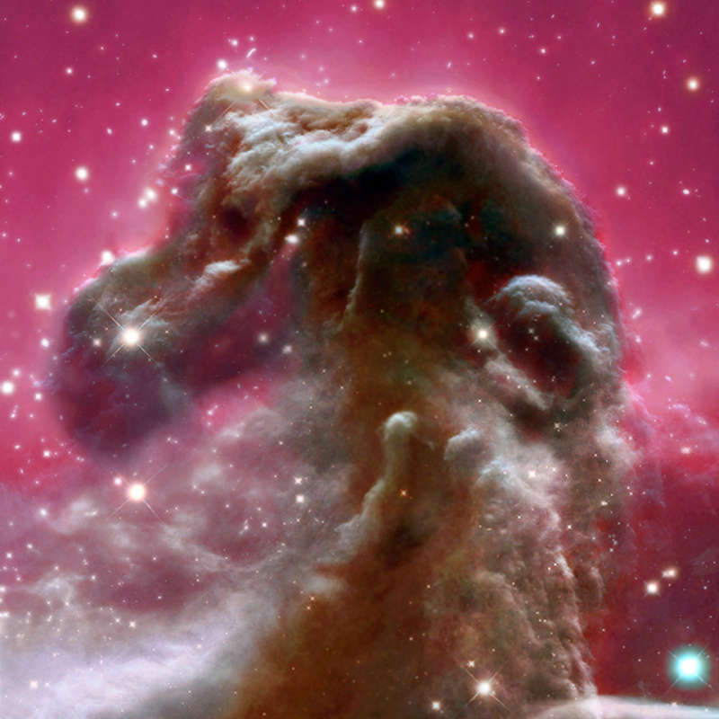 The Horsehead Nebula from Blue to Infrared