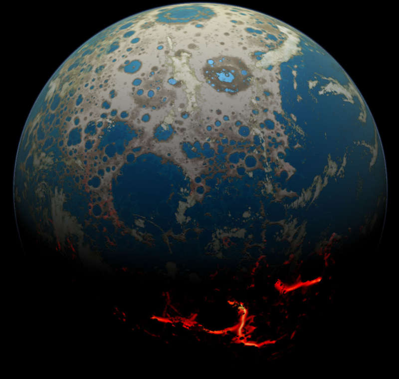 Four Billion BCE: Battered Earth
