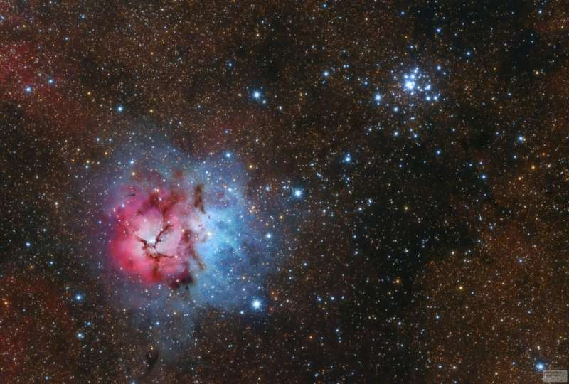 Messier 20 and 21