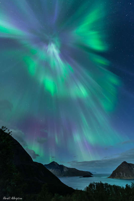 Auroral Corona over Norway
