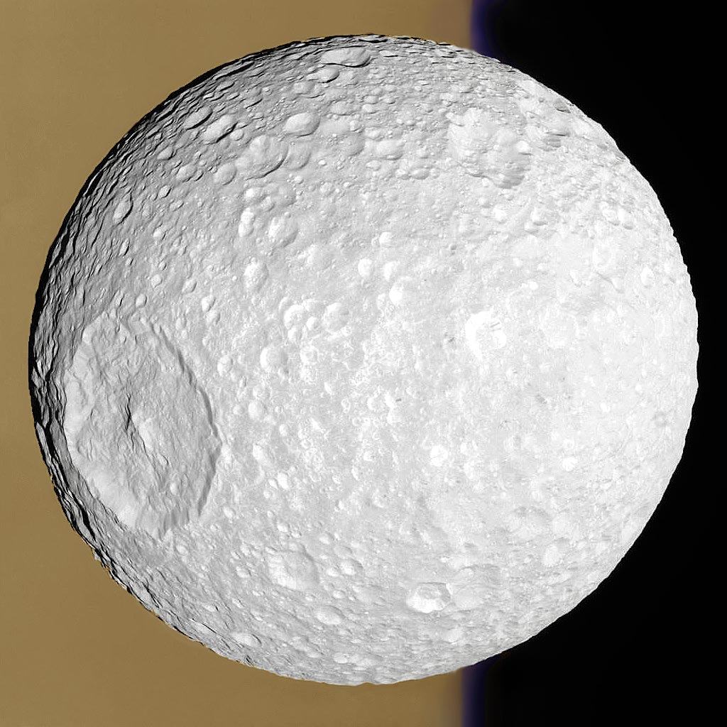 Mimas: Small Moon with a Big Crater