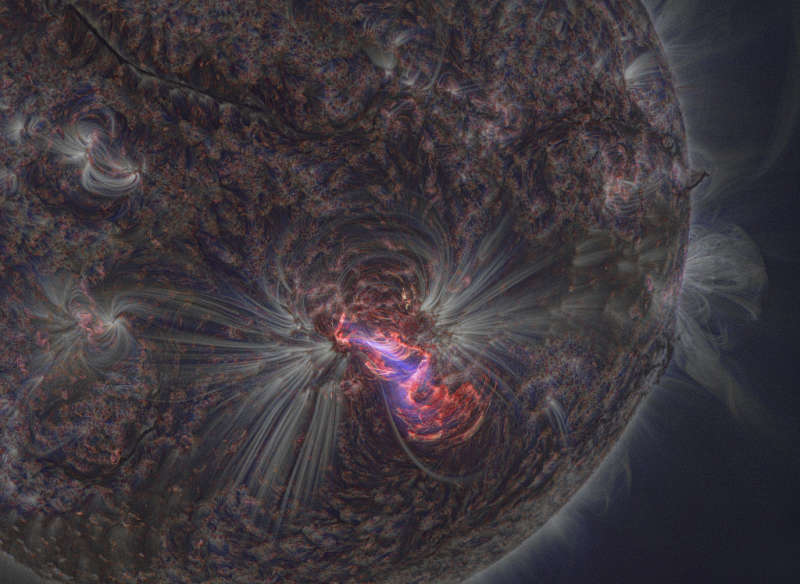 Solar Flare from a Sharper Sun