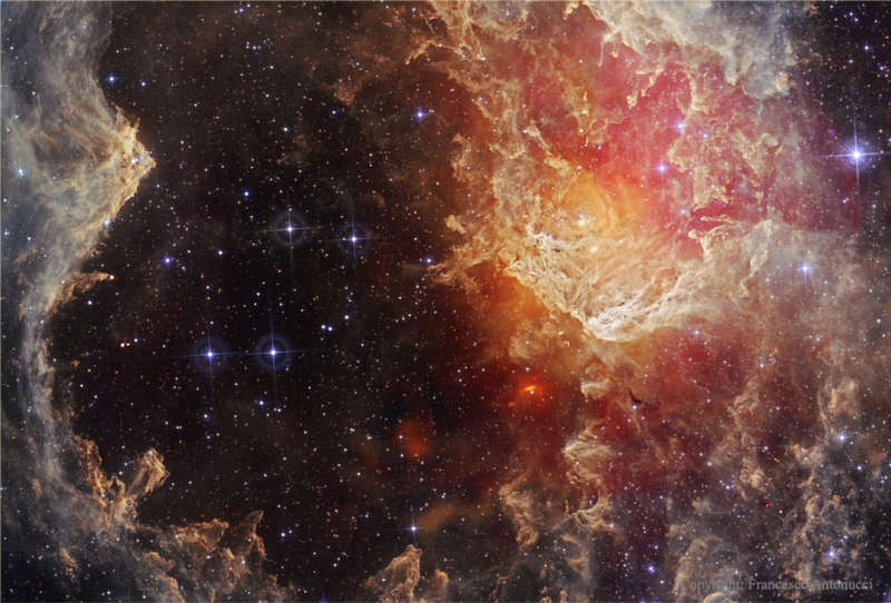 Stars and Dust Pillars in NGC 7822 from WISE
