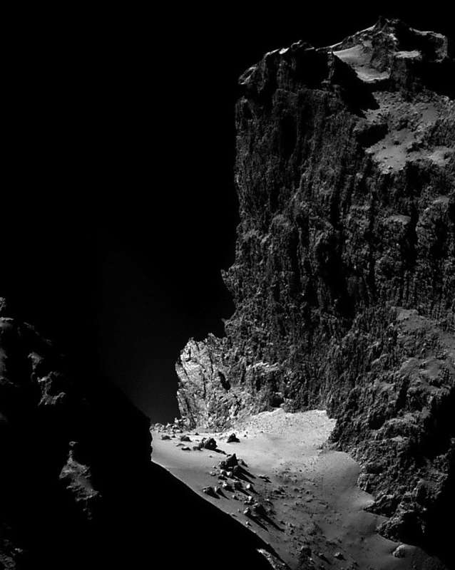 The Cliffs of Comet Churyumov Gerasimenko