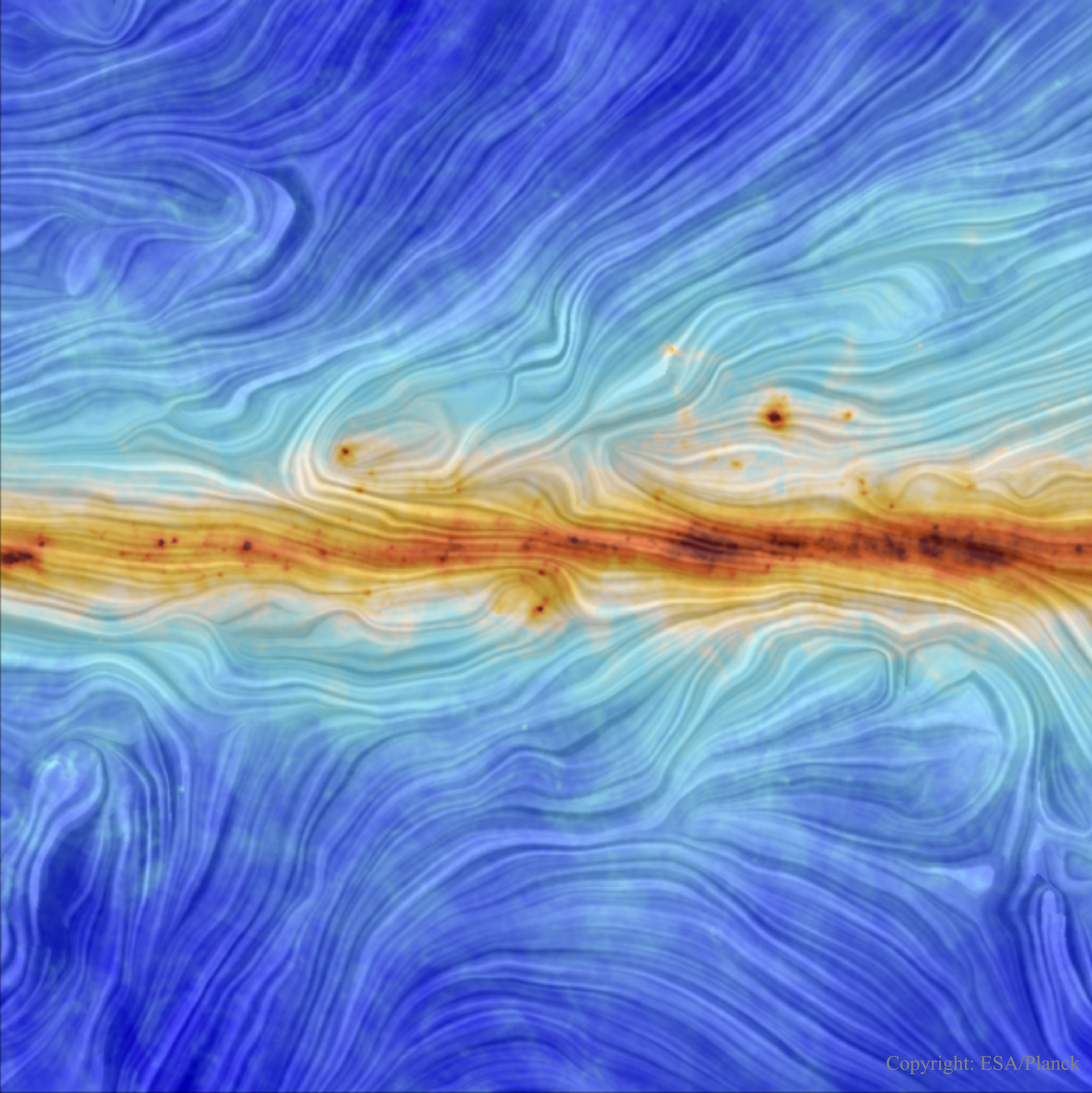 Our Galaxys Magnetic Field from Planck