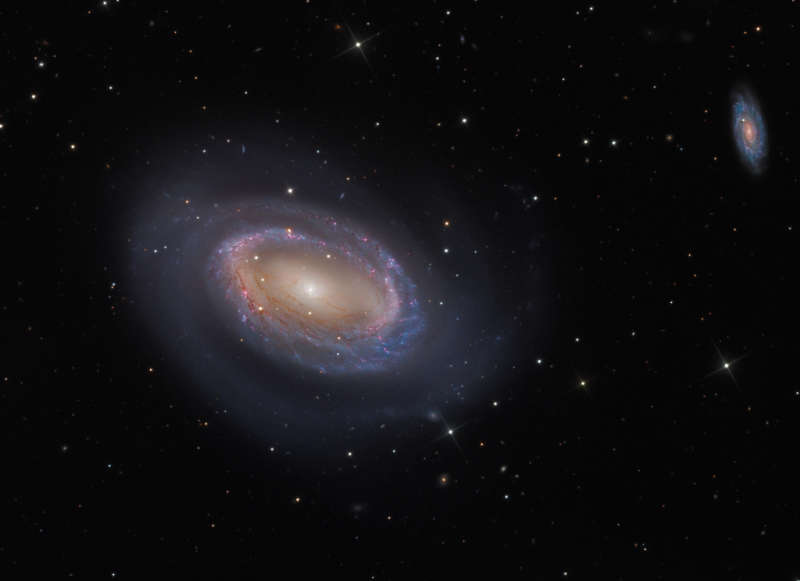 One Armed Spiral Galaxy NGC 4725